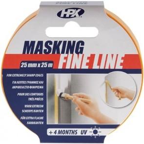 Masking tape 4400 - oranje 25mm x 50M