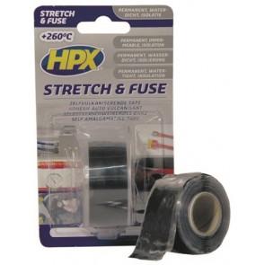 Stretch and Fuse Reddingstape - 25mm x 3M zwart