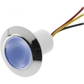 LED orientatieverlichting rnd 30mm blauw