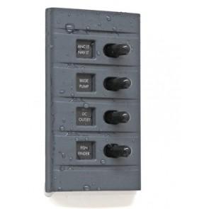 Connex Schakelpaneel 4 schakelaars met zekering en verlichting