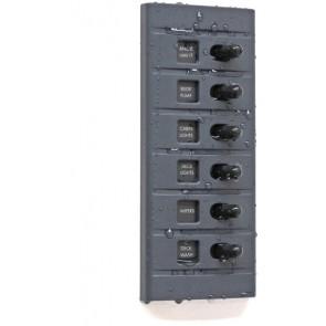Connex Schakelpaneel 6 schakelaars met zekering en verlichting