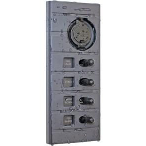 Connex Schakelpaneel 4 schakelaars en 2x USB aansluiting
