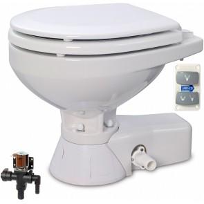 Jabsco Quiet Flush Stil Compact elektr. toilet 12V met solenoid