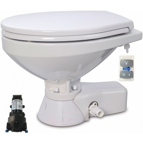 Jabsco Quiet Flush Stil Regular elektr. toilet 12V met spoelwaterpomp soft closing