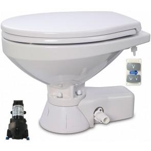 Jabsco Quiet Flush Stil Regular elektr. toilet 24V met spoelwaterpomp soft closing