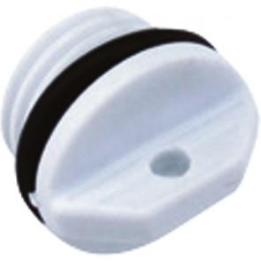Ovale nylon lensplugset wit L27xd25mm