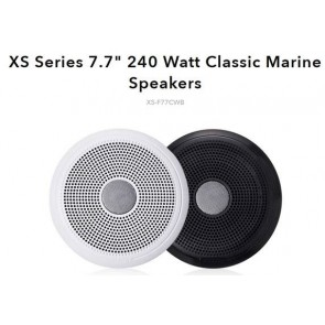 "Fusion XS-F77CWB 7.7"" Speakers Classic White & Black (No LED)"