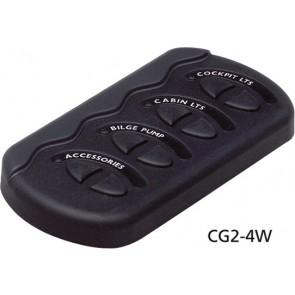 BEP Contour G2 4 schakelaars+zekering