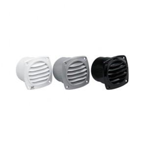 Plastimo ventilatierooster zwart 82x84 met flens