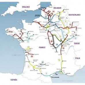 Plastimo navigatiekaart 8 Champagne-Ardenne - from Namur to St-Jean-de-Losne