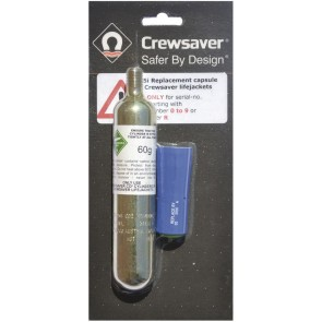 Crewsaver herlaadset MK3 Crewfit automatisch blauw