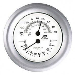 Plastimo Thermo-hygrometer 4inch matverchroomd