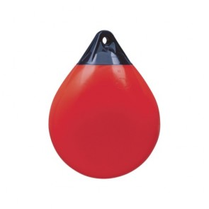 Stootwil bolvormig A1 rood met kop blauw