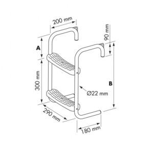 Plastimo zwemtrap RVS steiger/bijboot ophang 90mm