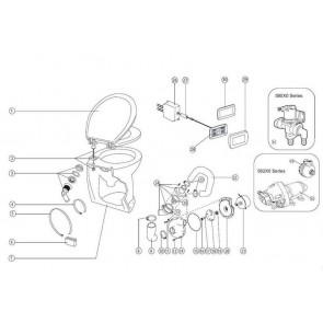 Jabsco Pomp Kit 24V DeLuxe Flush Toilet