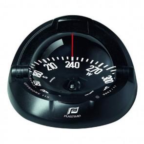 Plastimo Offshore 115 kompas zwart, zwart platte roos