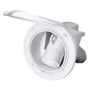 Plastimo dek doucheset wit + kunstof witte handdouch