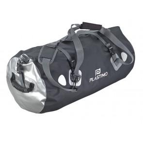 Waterdichte draagtas 80L zwart/grijs