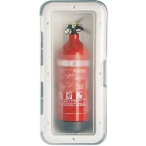 Lalizas storage case brandblusser transparante deur - 2kg - wit