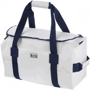 Bainbridge Zeildoek Tas Deluxe Medium wit-blauw