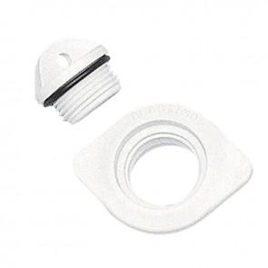 Lalizas drain socket w/plug, oval, plain,e