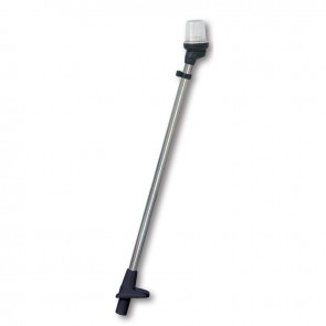 Lalizas pole light telescopic white, 54cm, zwarte behuizing