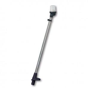 Lalizas pole light folding white, 23cm, zwarte behuizing