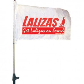Lalizas plug in pole for flag, 100cm,black