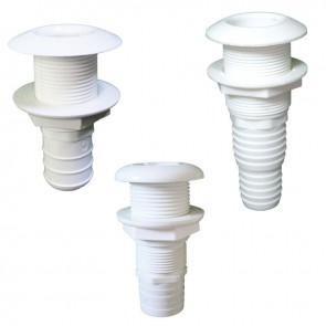 Lalizas thru-hull easy mount 7/8'', for hose dia. 25mm, white