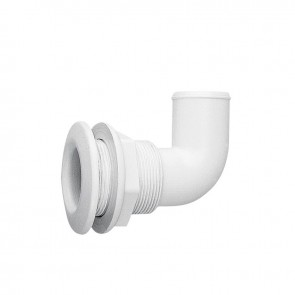 Lalizas thru-hull elbow 90gr, for hose dia. 20mm, PA, white