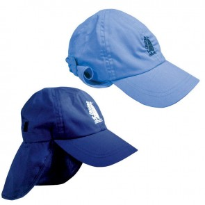 Lalizas sailing cap with protective neck cover, light blue, child