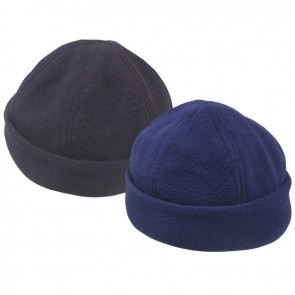 Lalizas fleece beret with adjustable strap navy