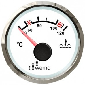 Wema Silver serie watertemperatuur meter NMEA2000 wit