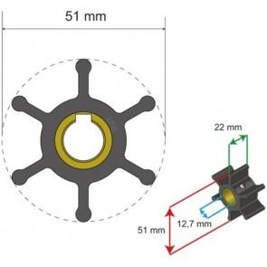 Albin Premium Impeller kit nr. 06-01-007