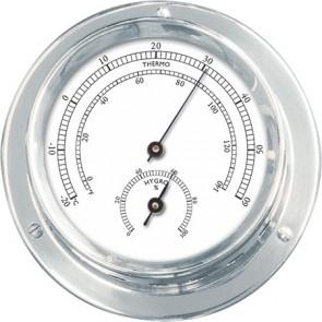Talamex Thermo-hygrometer verchroomd 110/84mm