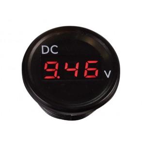 Talamex Voltmeter zwart 2.5-30V met flush frame (terminals)