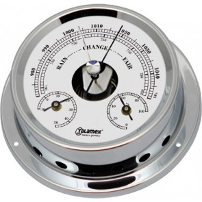 Talamex Baro/thermo/hygrometer messing verchroomd 125/100mm