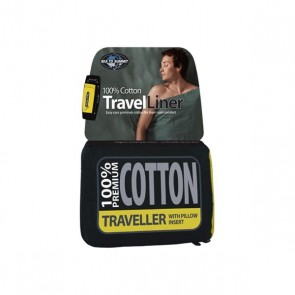 Sea to Summit Cotton Liner Traveller Pacific Blue