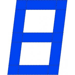 Computer 8 zeilnummer, 230mm, Blauw