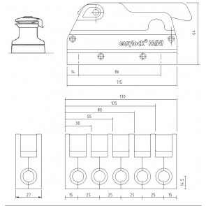 EasyLock Mini valstopper dubbel - grijs