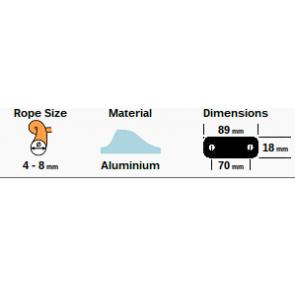 Trapeze en neerhouder Clamcleat CL253