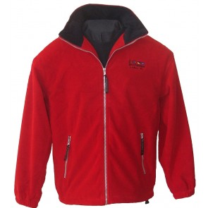 Windstop fleece jack Borkum Dry Fashion rood
