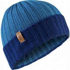 Gill Wide Rib Knit Beanie blue