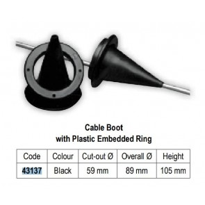 Lalizas cable boot w/plastic embedded rink