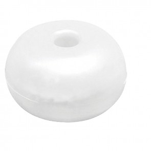Lalizas surface float w/hole, round, 75mm white