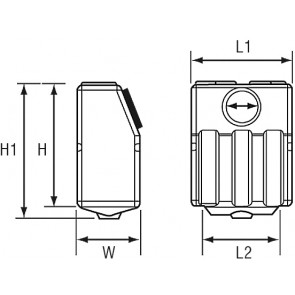 Lalizas waste water tank vertical 60l