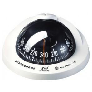 Plastimo Offshore 95 kompas wit, conische roos zwart, inbouw