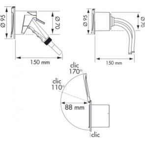 Plastimo dek doucheset chroom + kunststof chromen handdouch