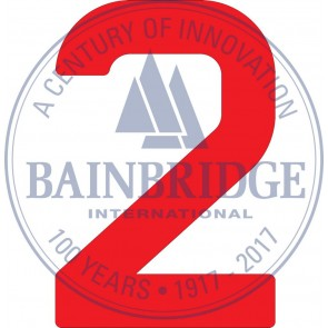 Bainbridge Zeilnummer 300 mm rood 2