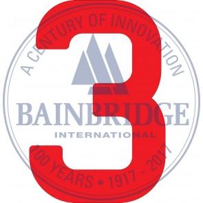 Bainbridge Zeilnummer 300 mm rood 3